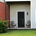 patio outside assisted living residence