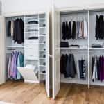 Reach-in closet design by Symmetry Closets