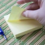 Yellow notepad for financial planning
