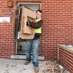 service provider removes trash from home