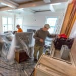 remodeling, plastic covering, construction work