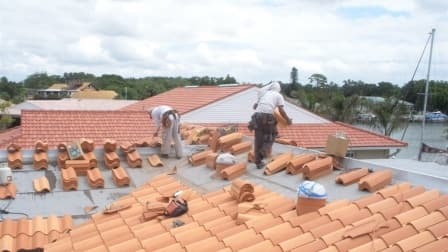 tile roof installation