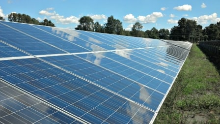 Astrum Solar in Howard County, Maryland, is one of the area's largest manufacturers of solar panels. (Photo courtesy of the U.S. State Department)