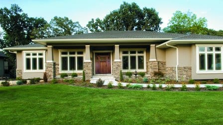 Contemporary Craftsman-style home