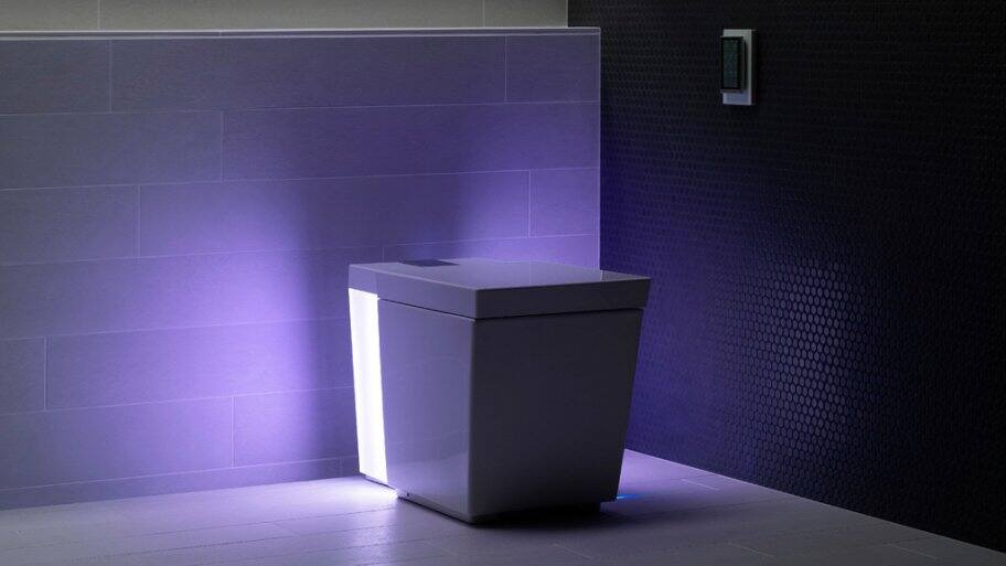 Kohler Numi toilet with purple ambient light