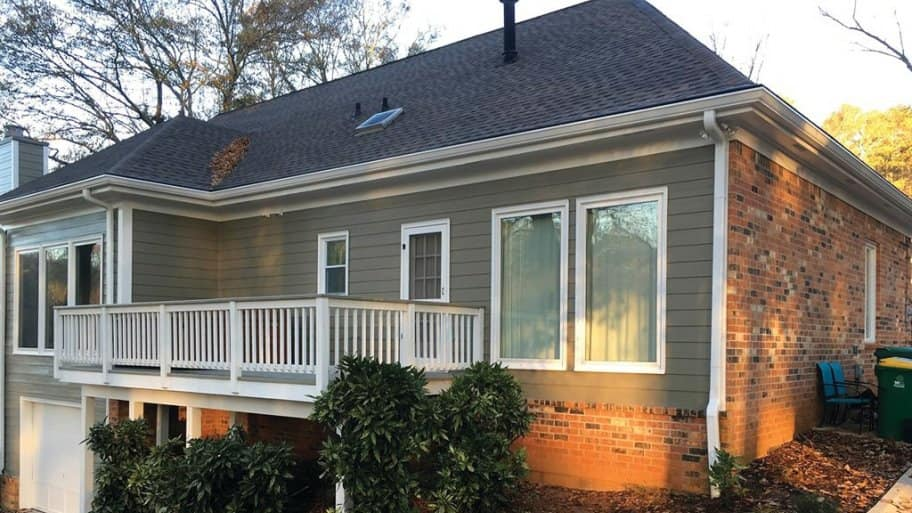 Siding and brick exterior