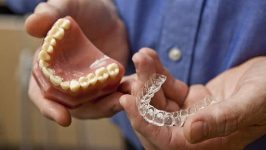 Invisible braces shown by Dr. Tellman, Indianapolis, IN