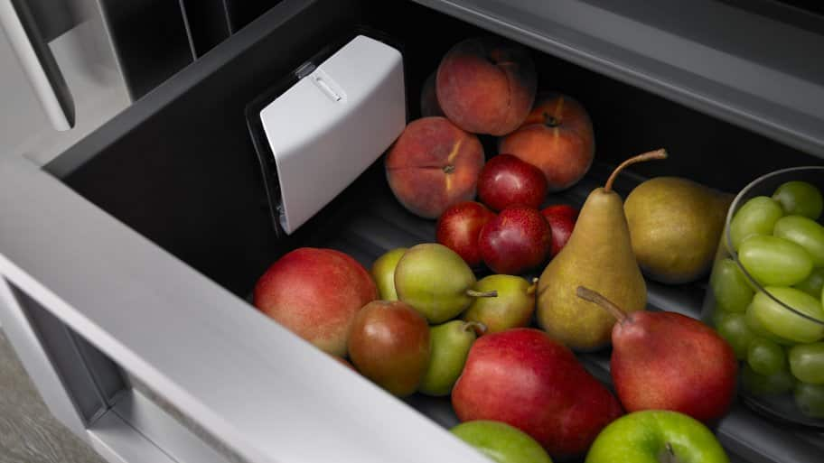 Produce in refrigerator drawer