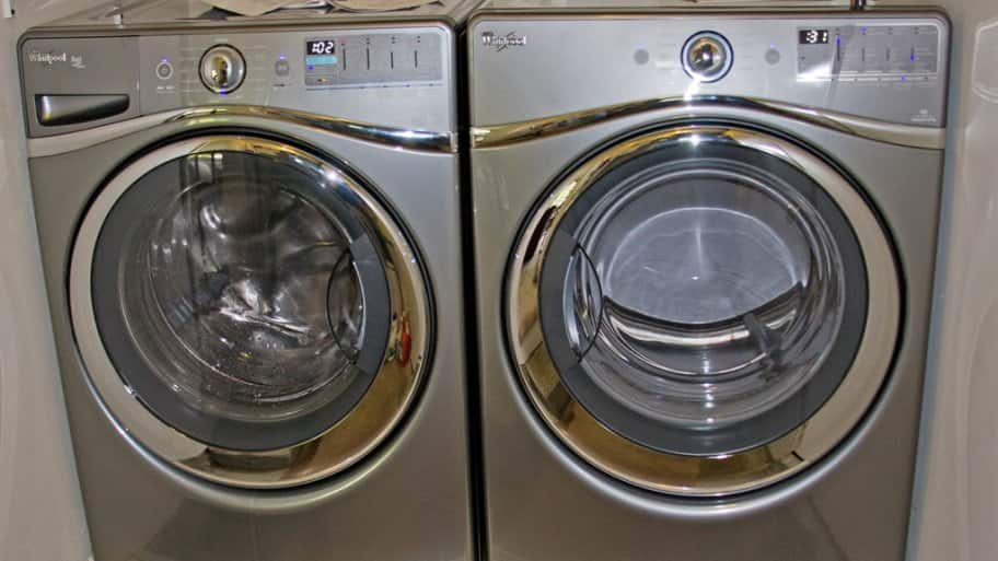 front-loading clothes washer and dryer