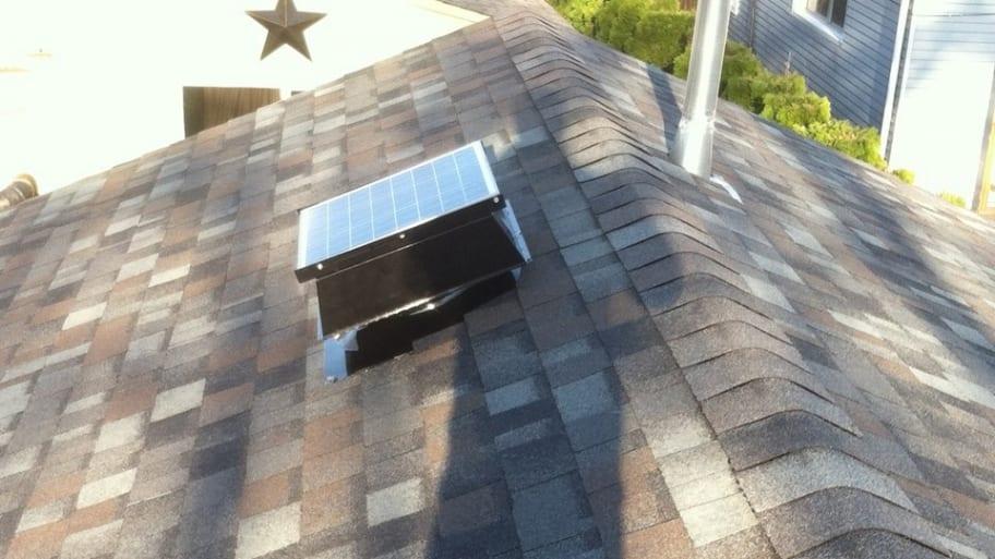 attic fan on roof