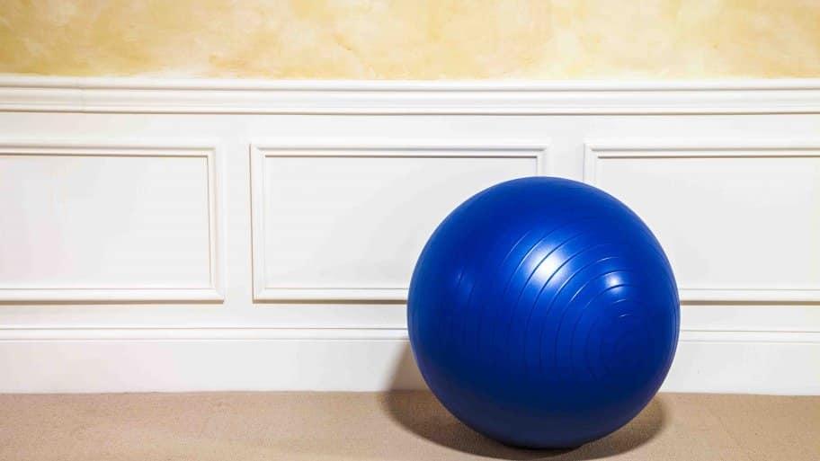 blue exercise ball