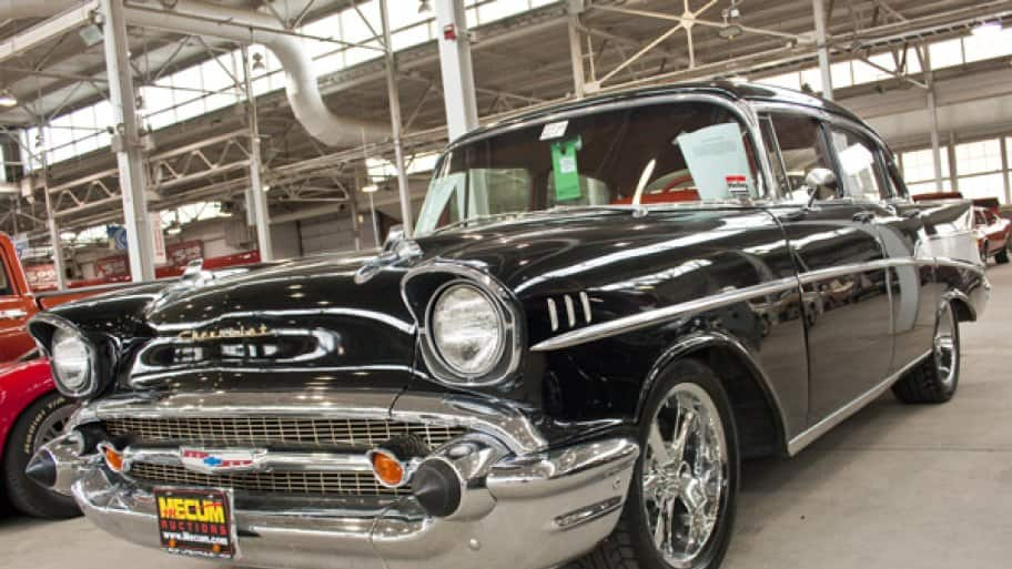 If you're considering selling your car at auction, like this 1957 Chevy Bel Air, take the right steps to maximize its price. (Photo by Brandon Smith)