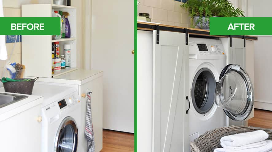 Kristine Franklin Laundry Room Refresh Before & After