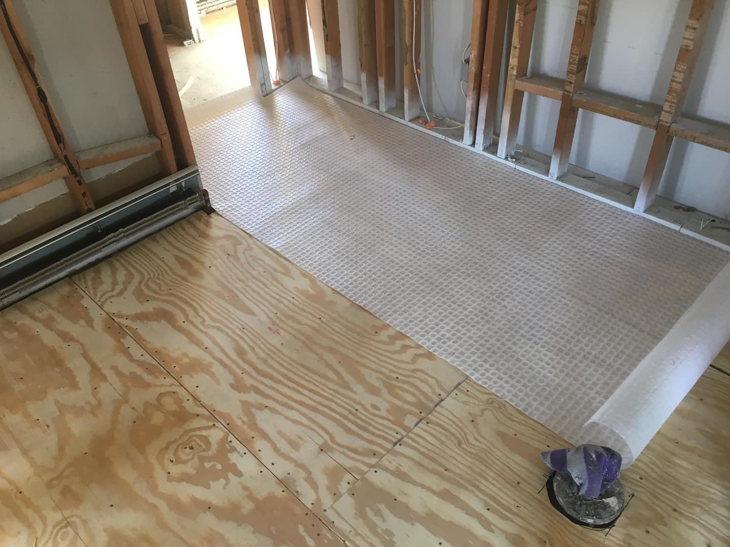 Laying Tile Over Uncoupling Membrane Underlayment Angies