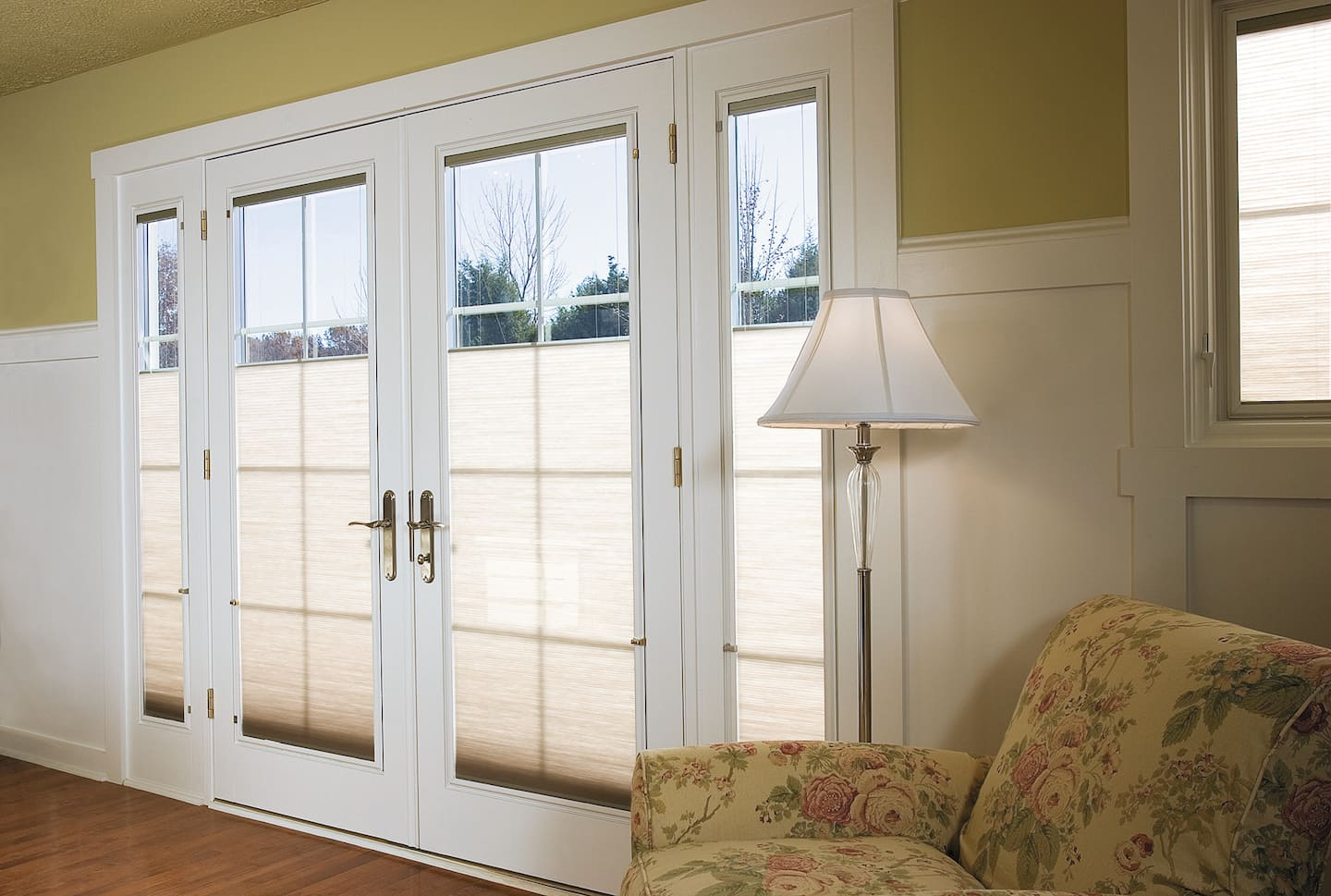 Sliding french doors price - Pella Designer Series Wood Patio Doors With Folding Hinges