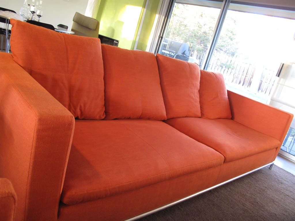 A Professional Cleaning Left This Bright Colored Sofa Looking Like New.  (Photo Courtesy. Upholstery Cleaning. How Much Does Furniture ...
