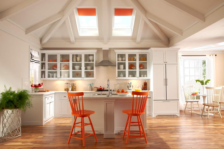 Beautiful Skylights Above Kitchen Countertop