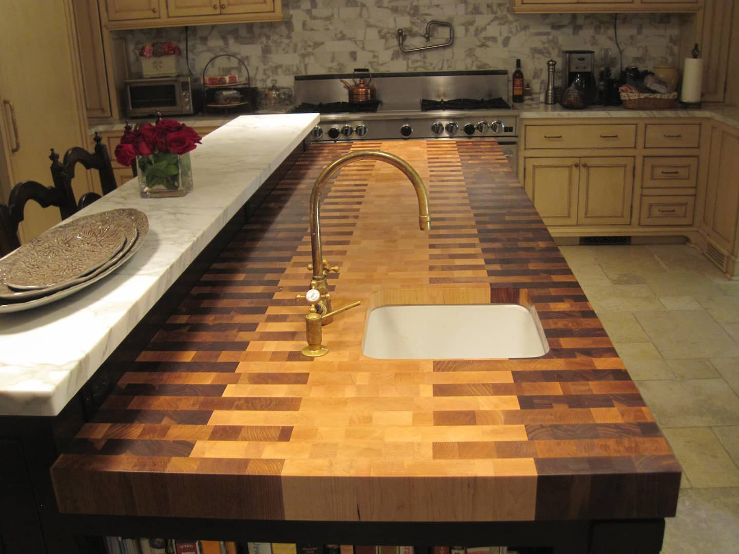 wood butcher countertop edge in countertops colonial block product butcherblock bc profiles