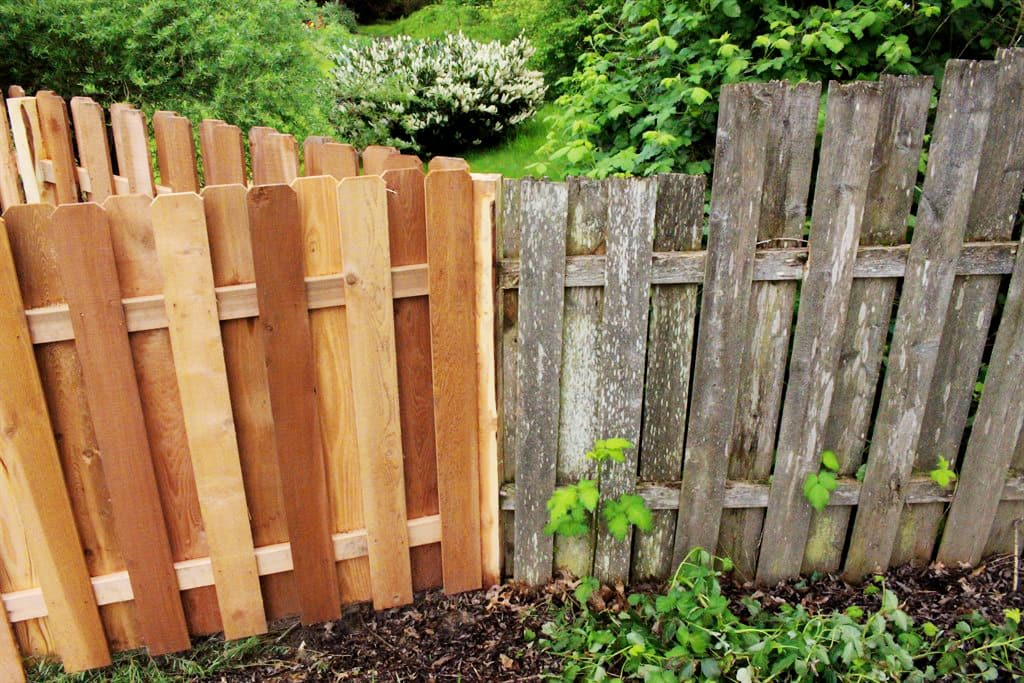 how to restore a faded wood fence