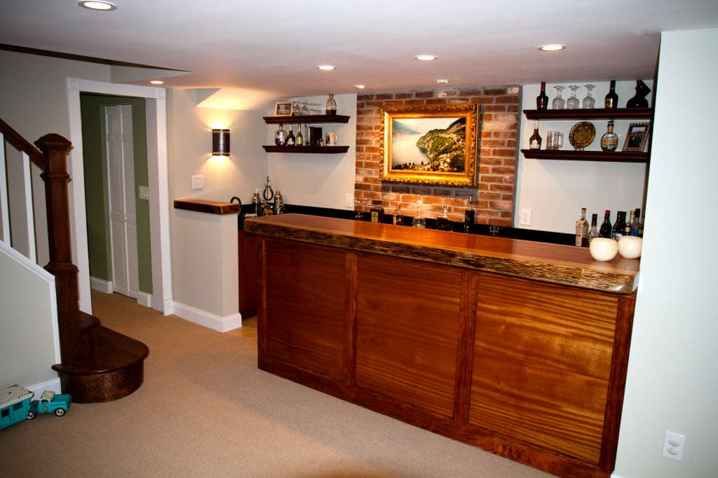 small kitchen ideas and best marble bar design with wooden.htm building a bar in your basement angie s list  building a bar in your basement angie