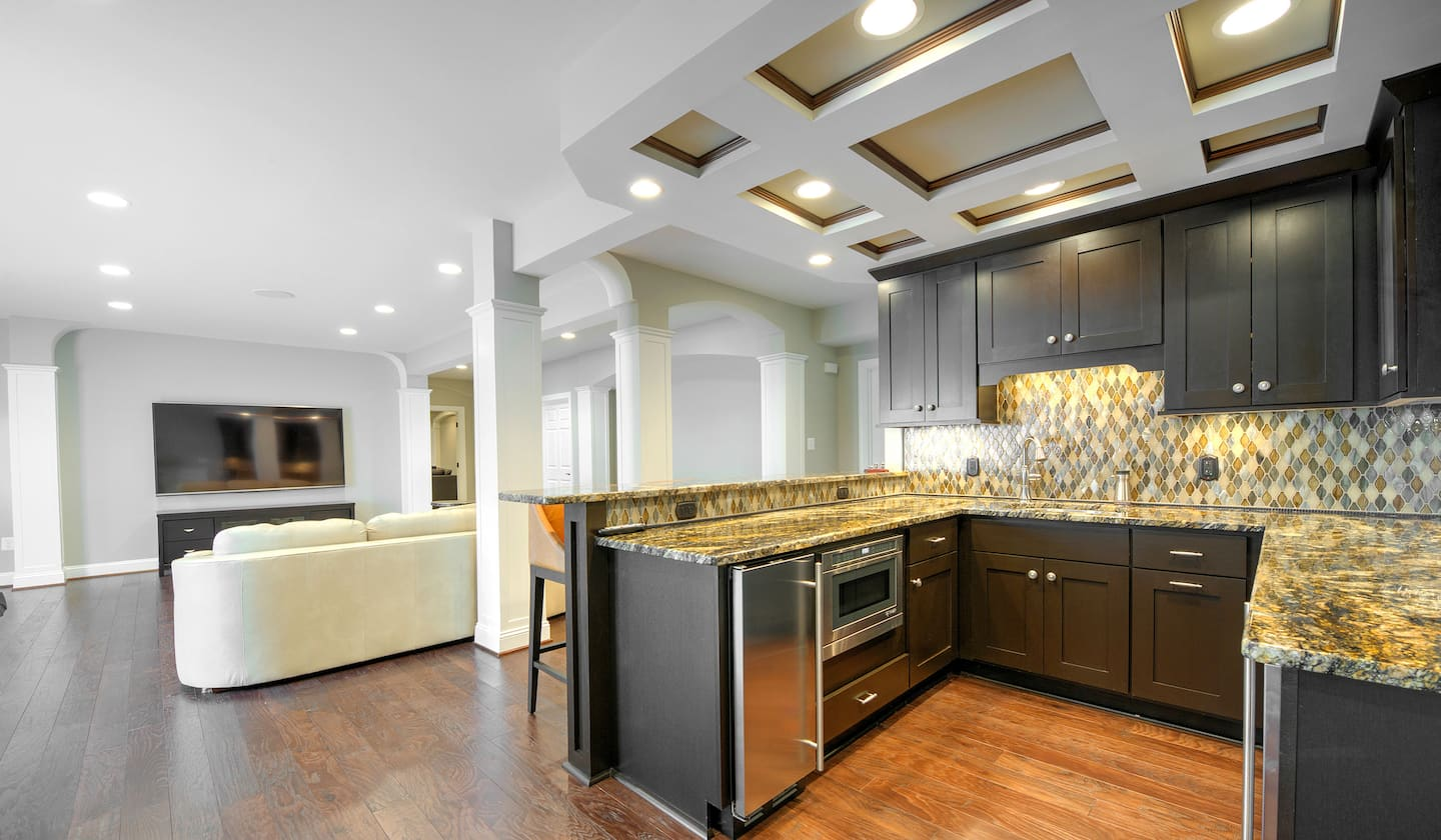 Dropped Ceiling Kitchen Ceiling Design Integral To A Remodeled Basement Angies List