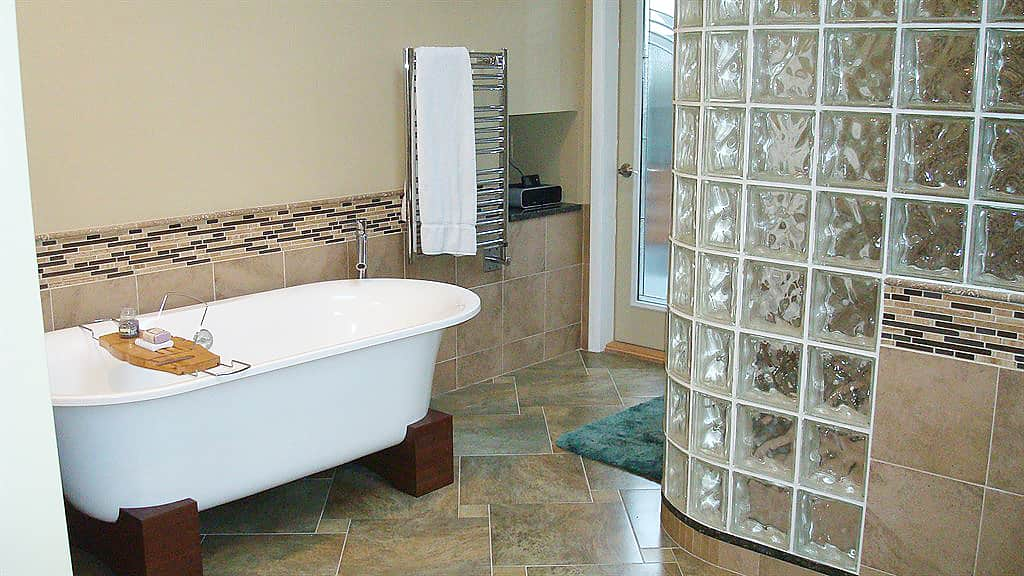 decorative windows for bathrooms.htm tips for building a curved wall using glass blocks angie s list  curved wall using glass blocks