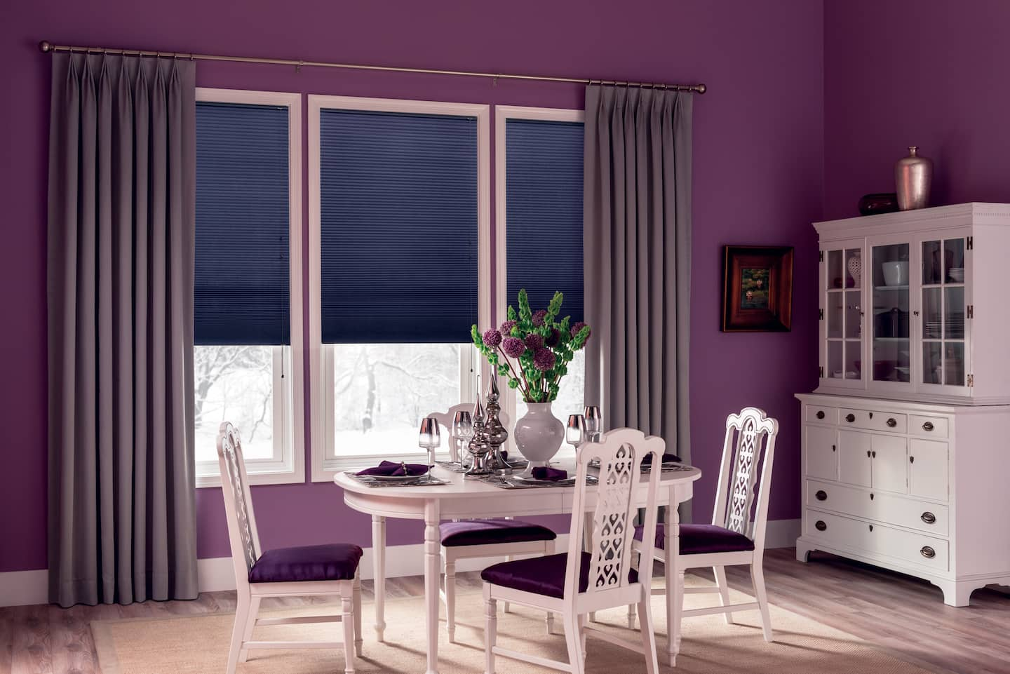 15 dining room curtains ideas angie 39 s list for Dining room valance ideas
