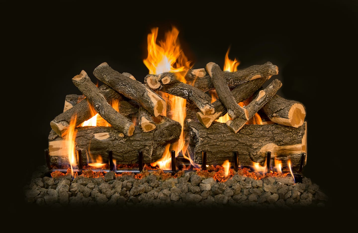 propane gas log fireplace. ceramic gas logs burning with flames and embers  Fireplaces How To Repair A Gas Fireplace If It Won t Turn On Angie s List