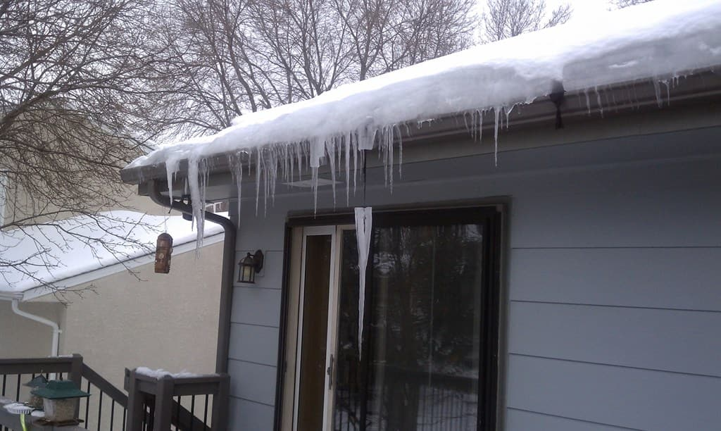 A Visible Inspection Of Your Roof Line Can Reveal A Buildup Of Snow And Ice  And
