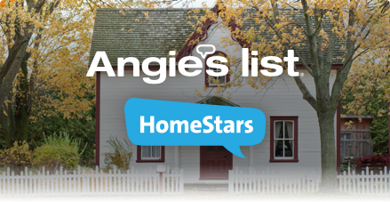 House with Angies List and Homestars logos.