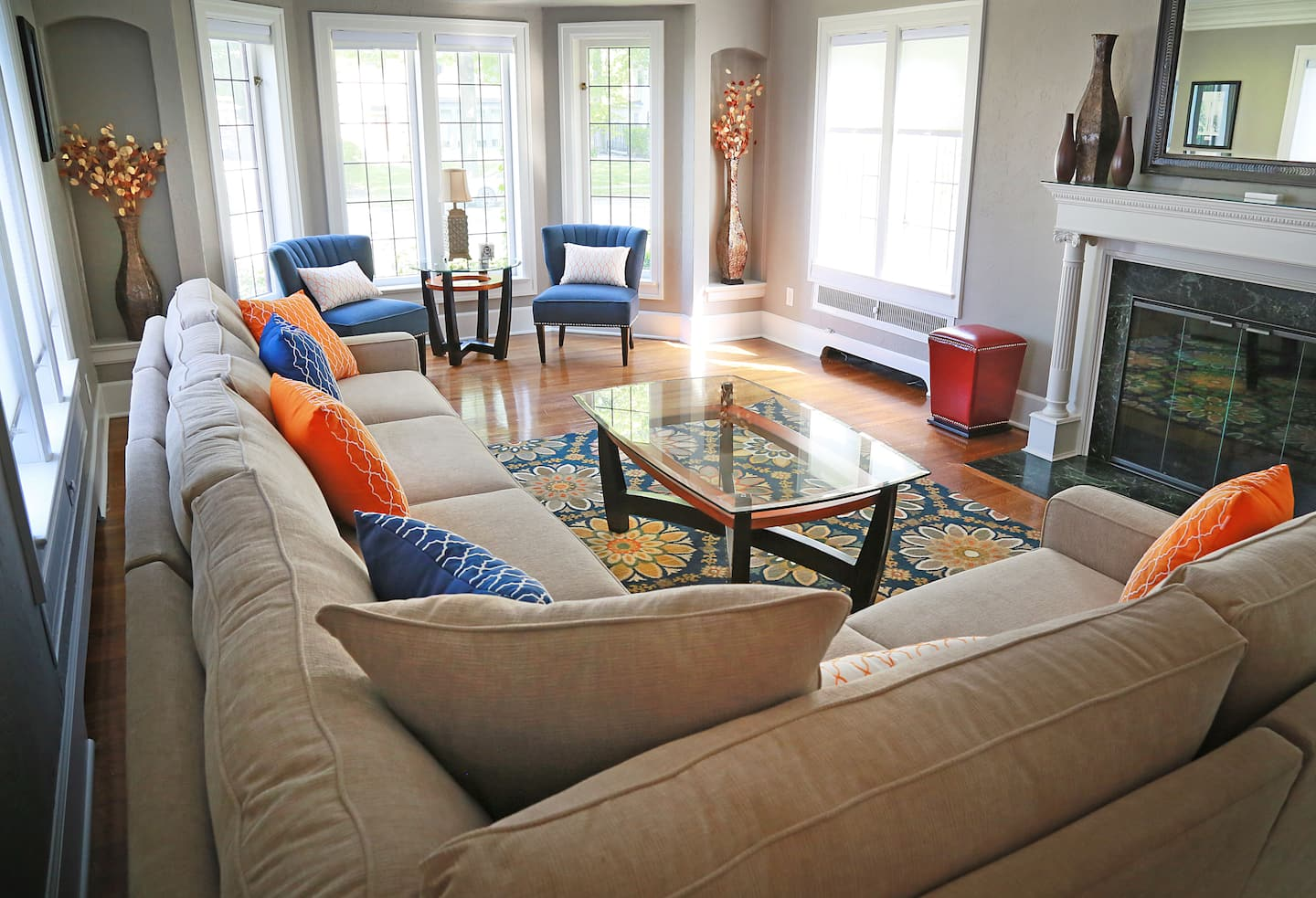 Comfortable Living Room Sofa and Window Seating | Angie\'s List
