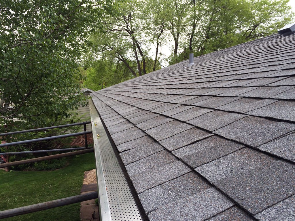 new asphalt shingle roof and gutters with gutter guards : jaf roofing shingles - memphite.com