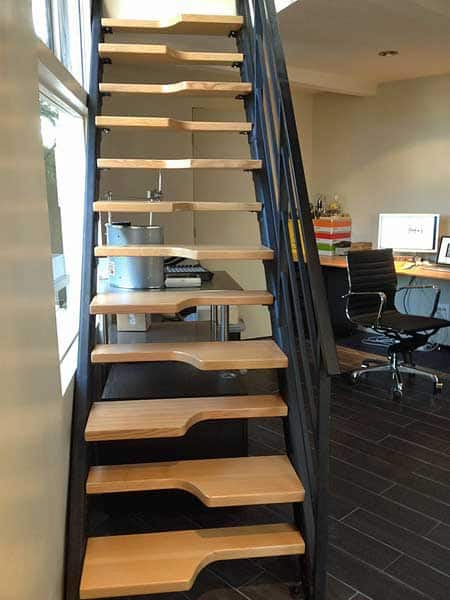 Steeply Angled Alternating Stairs Provided A Space Saving Solution To  Adding A Second Floor