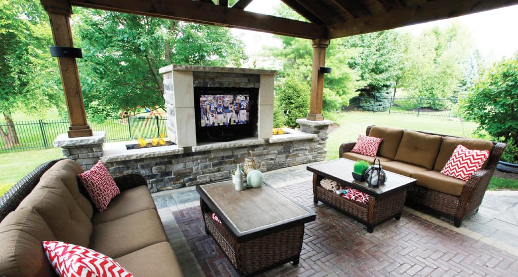Tune In From The Backyard With An Outdoor TV. Outdoor Living Room ...