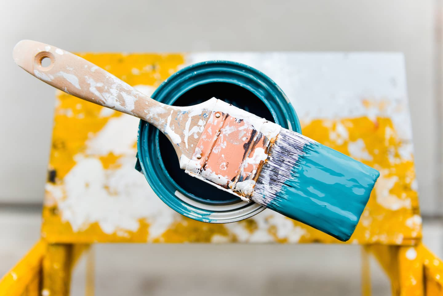 Average Cost To Paint A Living Room Part - 45: Wet Paint Brush On Paint Can