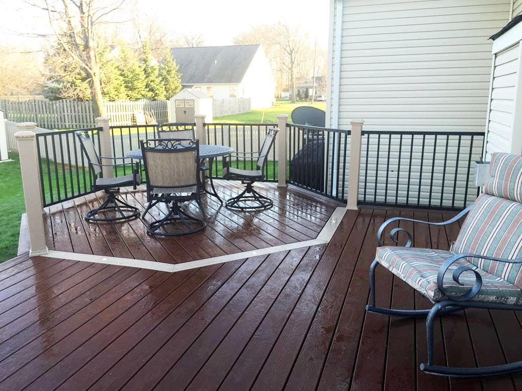 Oil or acrylic choose the right deck paint stain angies list new wood deck with area with defined dining and seating area baanklon Images