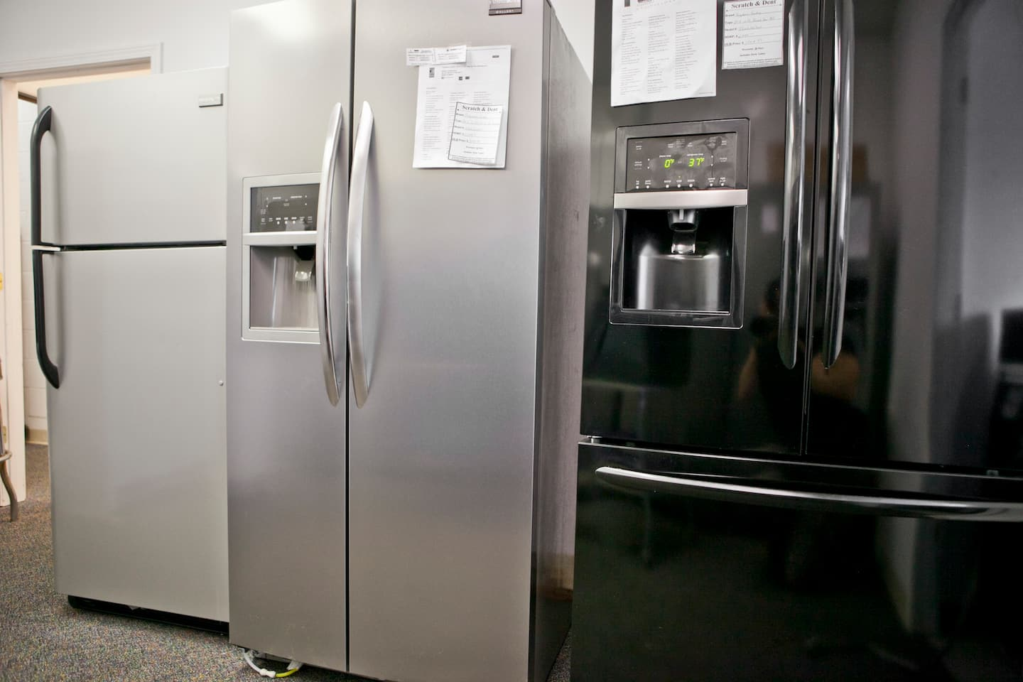 Average cost of new furnace and ac for home - White Stainless Steel And Black Refrigerators Photo By Brandon Smith