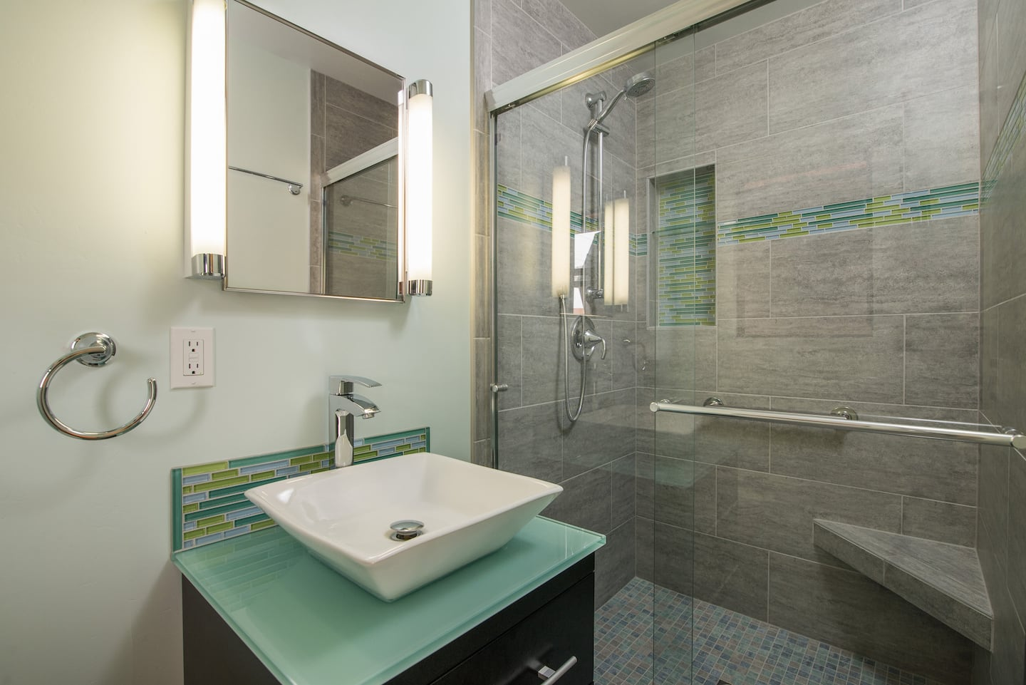 How to drill holes in porcelain bathroom tile angies list shower with bench and niche dailygadgetfo Gallery