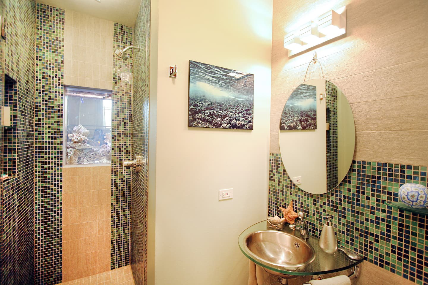 Refit bathroom cost - Shower With Fish Tank