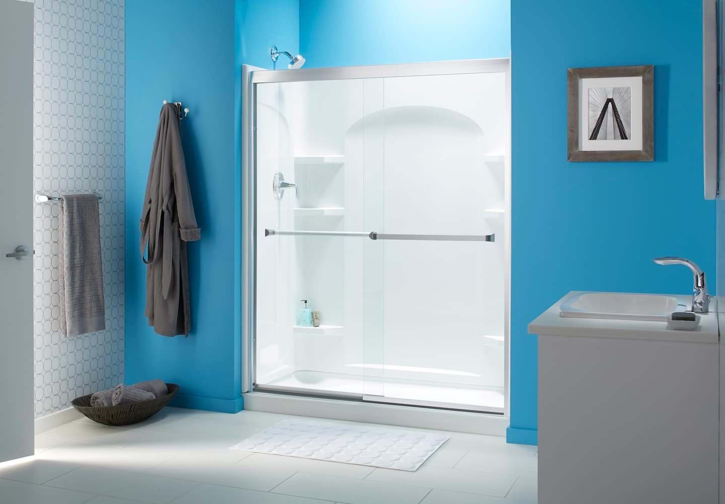Cost to add a new owner built bathroom armchair builder blog - Sliding Shower Doors
