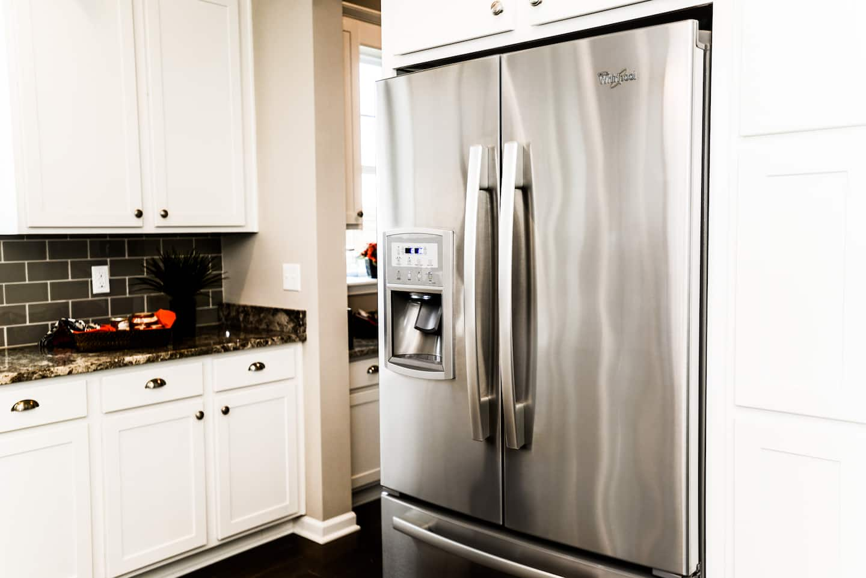 stainless steel refrigerator in kitchen