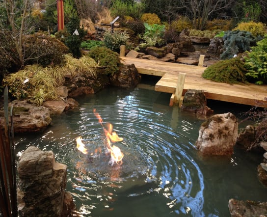 landscaping, pond, deck, Indiana Flower & Patio show