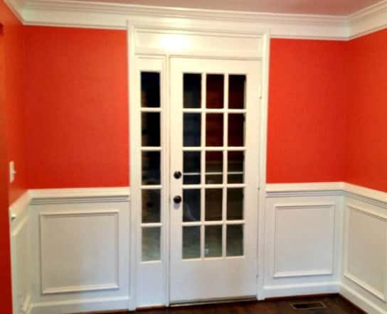 Painted room in Arlington, Va.
