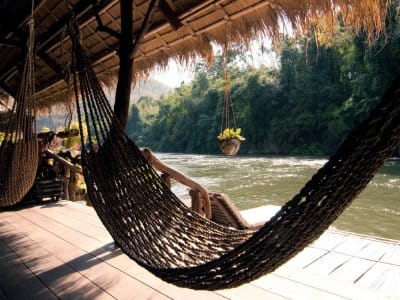 hammock by water in Thailand
