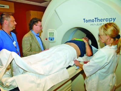Man getting an MRI scan