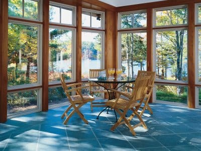 Pella sunroom with windows