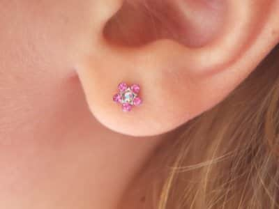earring in ear