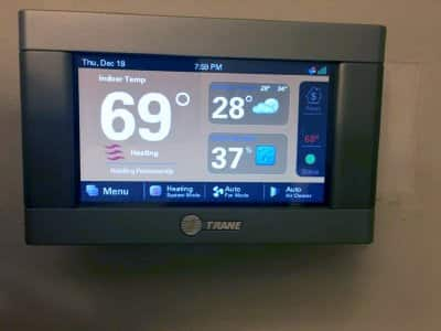 A digital thermostat