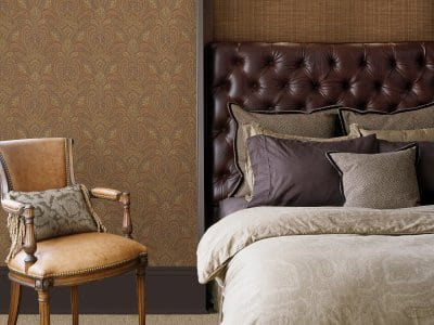 grasscloth wallpaper in bedroom