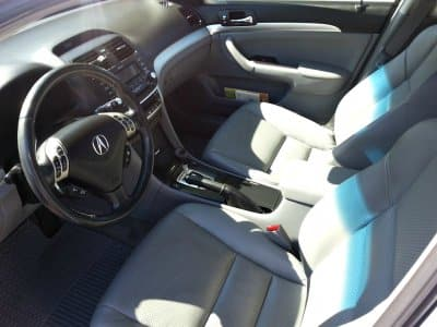 The interior of a car